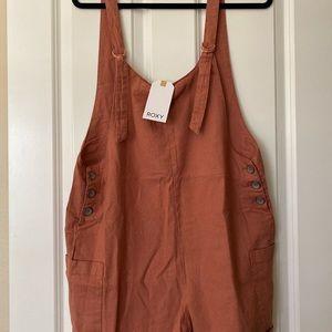 Linen overalls romper